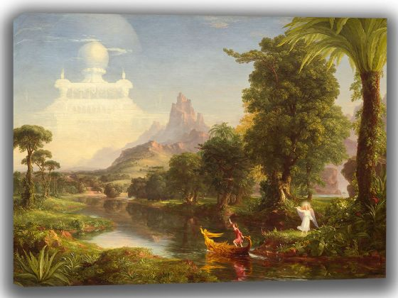 Cole, Thomas: The Voyage of Life - Youth. Fine Art Canvas. Sizes: A4/A3/A2/A1 (003561)